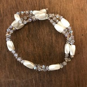 Jewelry - Chrystal Faux Pearl Magnetic Necklace Bracelet